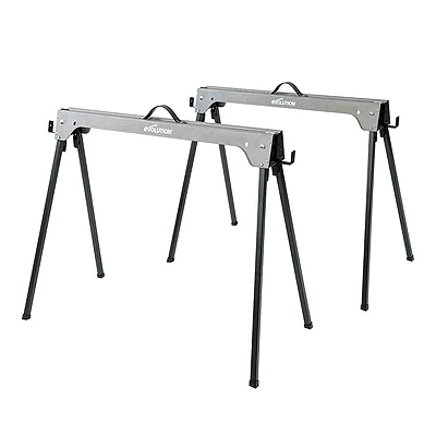 005-0003 Metal Saw Horse With Folding Legs (Twin-Pack)