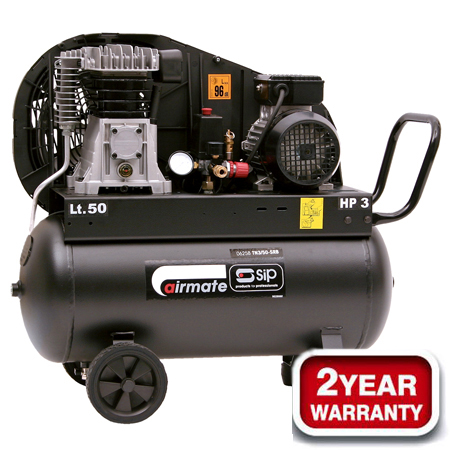 06258 Airmate TN 3HP/50-SRB Belt Driven