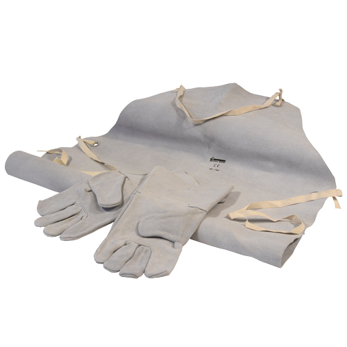 25112 Leather Welding Gloves And Apron