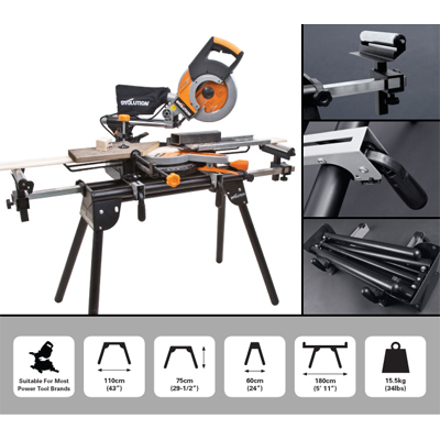 Mitre Saw Stand With Extendable Arms